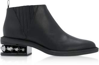 Nicholas Kirkwood Black Leather 35mm Suzi Chelsea Boots