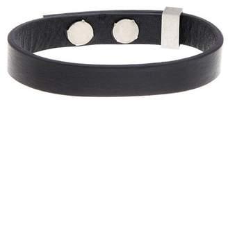 Ben Sherman Stainless Steel Leather Band Bracelet