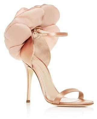 Giuseppe Zanotti Women's Flower-Embellished High-Heel Sandals