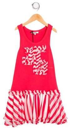 Junior Gaultier Girls' Ruffle Accented Sleeve Dress w/ Tags