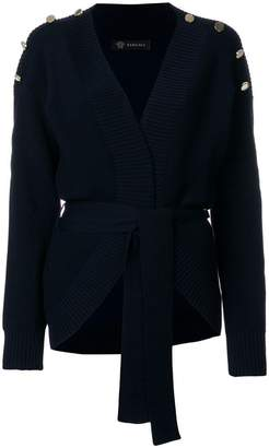 Versace ribbed button cardigan