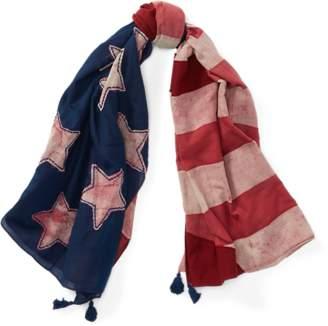 Ralph Lauren Patchwork Flag Cotton Scarf