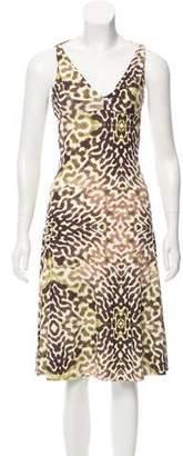 Just Cavalli Open Back Printed Dress
