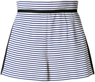 Philosophy di Lorenzo Serafini striped high waisted shorts