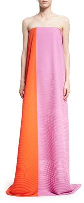 Solace London Alette Strapless Textured Maxi Dress $945 thestylecure.com