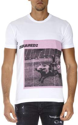 DSQUARED2 Dsq2 White Cotton T-shirt