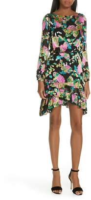 Saloni Felicia Asymmetrical Silk Blend Dress