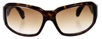 Chrome Hearts Tortoise Rectangle Sunglasses