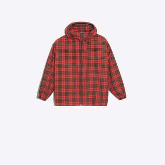 Balenciaga Tartan printed zipped shirt