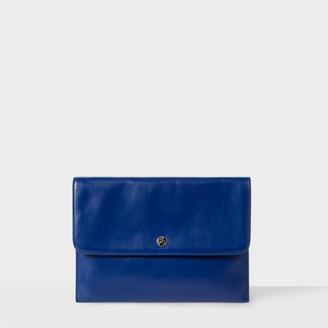 Women's Navy Leather Cross-Body Bag $385 thestylecure.com
