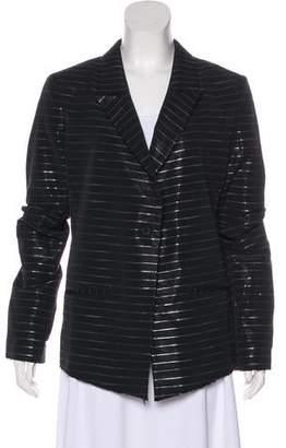 RtA Denim Stripe Metallic Blazer w/ Tags