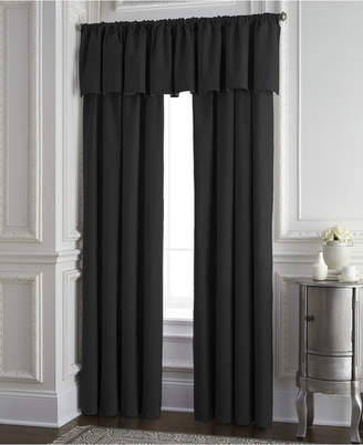 Colcha Linens Cambric Black Tailored Valance Bedding
