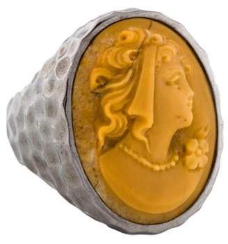 Amedeo Coral Cameo Cocktail Ring silver Amedeo Coral Cameo Cocktail Ring