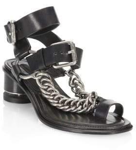 Alexander Wang Jada Leather Toe Ring Sandals