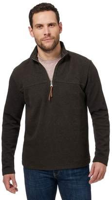 RJR.JOHN ROCHA RJR.John Rocha - Big And Tall Brown Ribbed Funnel Zip Neck Sweater