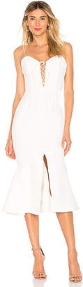 Nicholas Crepe Flip Hem Dress