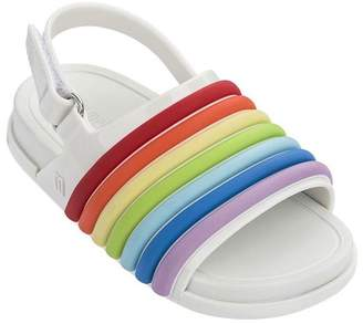 Mini Melissa Kids Beach Slide Sandal Rainbow BB