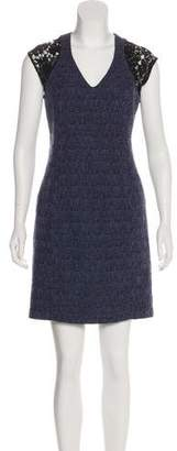 Rebecca Taylor Lace-Trimmed Tweed Dress