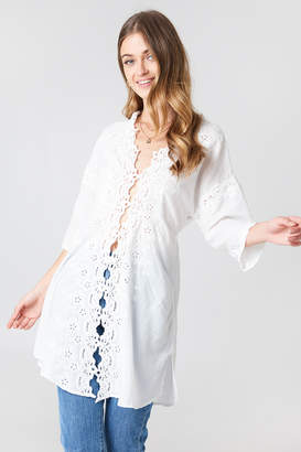 Free People To The Moon Buttondown Shirt