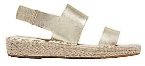 Cole Haan Women's Cloudfeel Metallic Leather Espadrille Sandals
