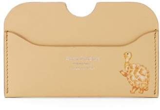 Acne Studios Elmas Tortoise Print Leather Cardholder - Womens - Light Yellow