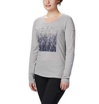 Columbia Women's Alta Peak Long Sleeve Tee, Grey Heather/Linework