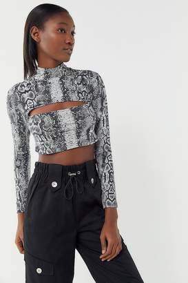 Motel Sinex Sake Print Cropped Top