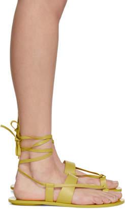 Tibi Yellow Reid Sandals