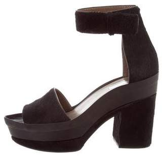 Calvin Klein Collection Buckled Platform Sandals