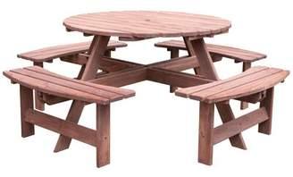 Loon Peak Samara Solid Wood Picnic Table Loon Peak