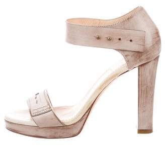 Brunello Cucinelli Distressed Platform Sandals