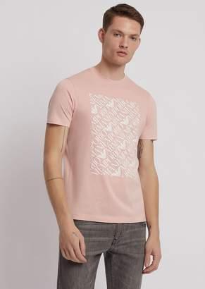 Emporio Armani Pima Cotton Jersey T-Shirt With Logo Print