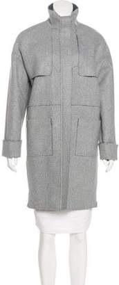 Áeron Knee-Length Virgin Wool Coat
