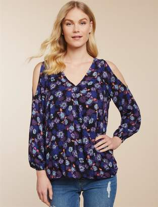 Jessica Simpson Motherhood Maternity Pull Down Cold Shoulder Nursing Top