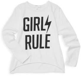 Joah Love Little Girl's& Girl's Girls Rule T-Shirt