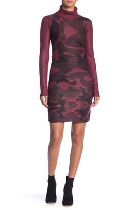 Couture Go Print Turtleneck Dress