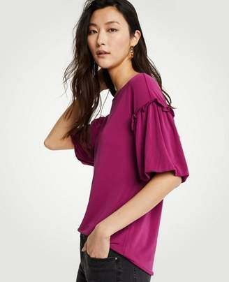 Ann Taylor Ruffle Bubble Sleeve Top