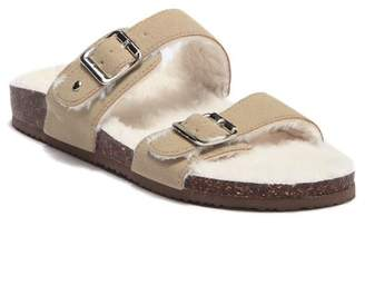 Madden-Girl Brando Faux Fur Lined Slide Sandal