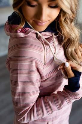 Ampersand Avenue DoubleHood Sweatshirt - Retro Pink