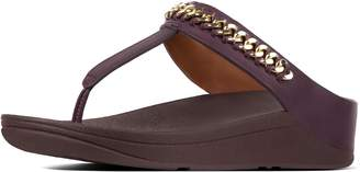 FitFlop Fino Chain Leather Toe-Thongs