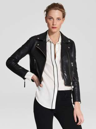 Nobody Classic Leather Jacket Black Leather