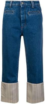 Loewe striped cuff jeans