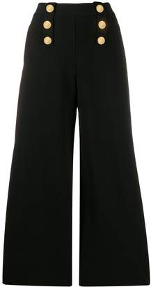 Stella McCartney decorative buttons flared trousers