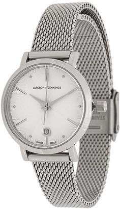Larsson & Jennings Aurora Silver Milanese 26mm watch