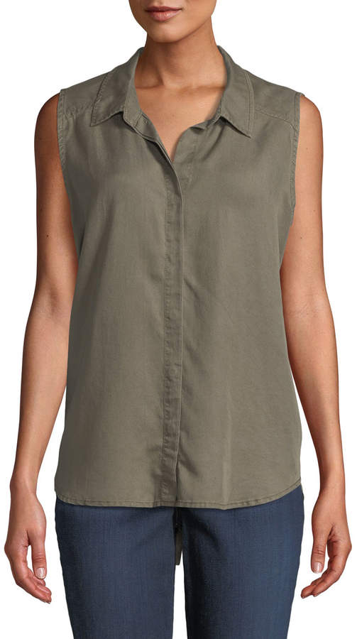 Nydj Sleeveless Button-Back Shirt