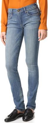 True Religion Mid Rise Cora Straight Jeans $149 thestylecure.com