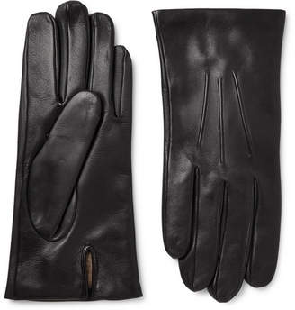 Dents Bath Cashmere-Lined Leather Gloves