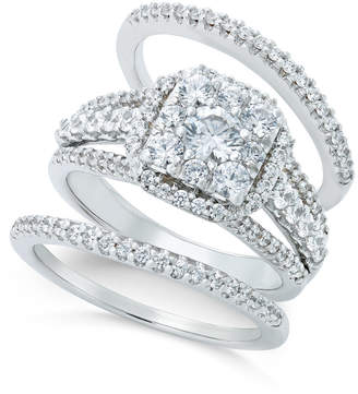 Macy's Diamond Bridal Set (1-1/2 ct. t.w.) in 14k White Gold or Rose Gold