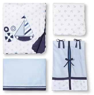 Bacati Crib Bedding Set - 10pc - Little Sailor
