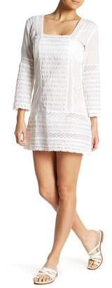 Letarte Embroidered Cover-Up Dress
